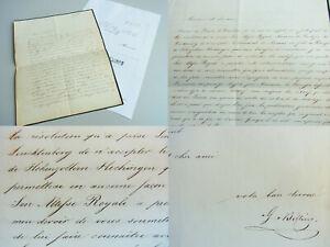 Gustav V.Billing: Letter Hechingen 1847 Over Last V.Eugenie De Beauharnais