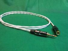 """12 Ft SILVER PLATED 3.55 MM 1/8"""" AUDIOPHILE HEADPHONE EXTENSION CABLE."""