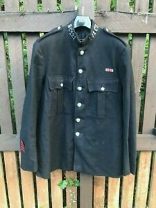 Antique Police Scotland Tunic Jacket with Badges & Medal Ribbon