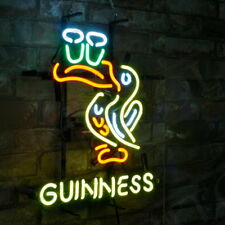 Guinness Toucan Beer Bar Store Shop Neon Sign Light Man Cave Game Room Pub Party