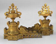 Grande paire de chenets de St Louis XVI