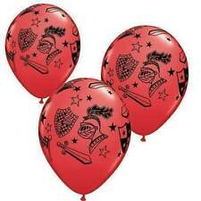 """6 x 11"""" Helium Latex Balloons Red Kinghts Medieval Party"""