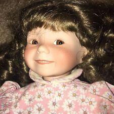 """DIanna Effner 15"""" Porcelain Doll Pink Floral Dress REALISTIC DETAILS Girl SMILE!"""