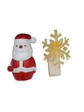 Bath & Body Works Santa Gold Snowflake Holiday Wallflower Diffuser Plug Set