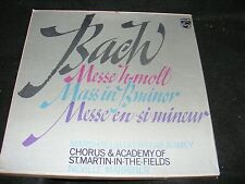 Boxed Philips 3 LP Set BACH Mass in B Minor NEVILLE MARRINER Stereo Made Italy