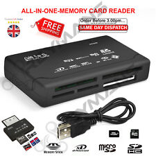 ALL IN ONE MEMORY CARD READER USB SD SDHC MINI MICRO M2 MMC XD CF CARD READER