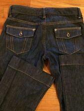 Banana Republic Size 0 Stretch Flap Pocket Dark Blue Denim Womens Boot Trousers