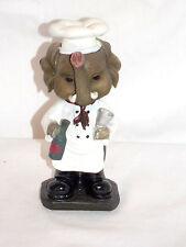 "NEW BOBBLEHEAD BARNYARD ELEPHANT CHEF WITH WINE & GLASS STATUE FIGURE 6"""
