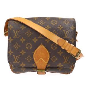 LOUIS VUITTON CARTOUCHIERE MM SHOULDER BAG PURSE M51253 zei 90472