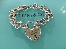 Tiffany & Co. 18k Rose Gold Silver Bracelet Lock Keyhole