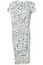 NWT $360 Helmut Lang Strata Printed Twist-Front Stretch Jersey Dress SIZE S