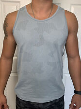 Lululemon Men Size M Metal Vent Breathe Tank Blue HOLC/BUCA/AQWI Mesh X-Static