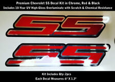 "SS Super Sport Decal Kit 2pcs Chrome Rally Sport Chevy Camaro Chevrolet 6"" 0203"