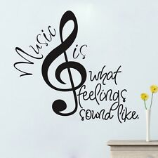 USA STOCK Music Notes Wall Sticker Mural Vinyl Art Decal Home Decor Words Quote