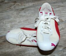 PUMA SPEED CAT WHITE & RED SUEDE/LEATHER WOMEN'S 9 SNEAKERS