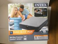 Intex Comfort Plush Elevated Dura-Beam Queen Airbed with Built-in Electric Pump