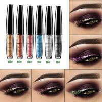 16 Colors Waterproof Metallic Shiny Smoky Eyeshadow Glitter Liquid Eyeliner Kit