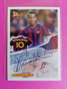 Ronaldinho Panini 🔥 Autograph 🔥Super Barca Barcelona 101 2005/2006