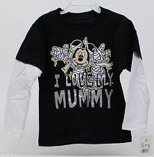 Halloween Disney Mickey Mouse I Love My Mummy Long Sleeve Shirt Size 4T NWT