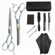 10pz Set Forbici Parrucchiere Professionale Barbiere Mantello Taglio Capelli