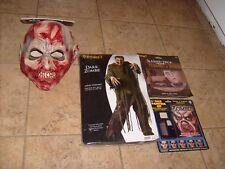 DARK ZOMBIE DELUXE Fancy Dress Halloween Adult Men's Costume Mask Make up ONE SZ