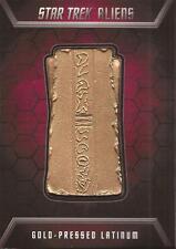 "Star Trek Aliens - GL1 ""Gold-Pressed Latinum"" Badge Card #046/200"