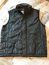 Men's M Old Navy Black Quilted Nylon Vest Fleece Lined