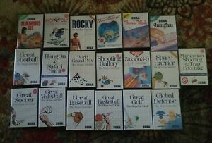 Sega Master System Games Lot of 19  Many with Manuals and Posters
