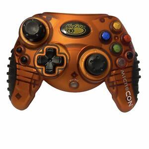 Orange MadCatz Controller 4536 With Macro Button for Nintendo GameCube TESTED