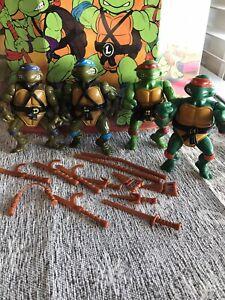 1988 TMNT Lot Teenage Mutant Ninja Turtles Playmates Action Figures