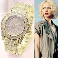 Luxury Women Stainless Steel Watch Ladies Diamonds Analog Quartz Fashion Watches