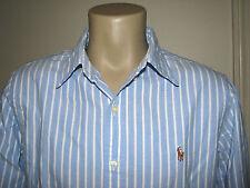 Mens (XL) POLO-RALPH LAUREN Blue Stripe Oxford Shirt (MID FIT)