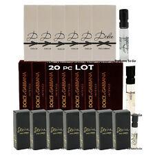 20pc Lot D&G Vial Spray Sample~Desire~Dolce~Intense~by Dolce & Gabbana for Women
