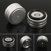 4pcs 40*20mm Aluminum Feet Pad Stand For Speaker Turntable CD Player Isolation