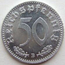 Top! 50 Reichspfennig 1940 B IN Uncirculated
