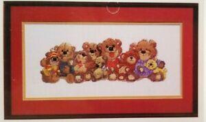 Teddy Bears of Duckport Counted Cross Stitch Pattern Janlynn 12.75 x 4.5 inch