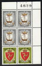 Island Of Man 146 & 147 Block of 6 Stamps 1979 Viking Ship MNH