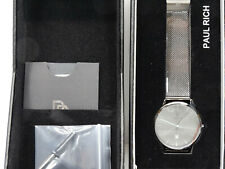Men's Paul Rich Holbrook Black Mesh Watch New (W6)