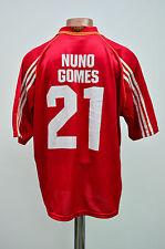 BENFICA PORTUGAL 1999/2000 HOME FOOTBALL SHIRT JERSEY ADIDAS NUNO GOMES #21