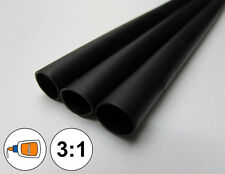 "(1 FOOT) 1/2"" Black Heat Shrink Tube 3:1 Dual Wall Adhesive Glue Marine/to 0.5"""