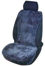 Sitzaufleger Sitzauflage Autositzauflage Lammfell Anthrazit