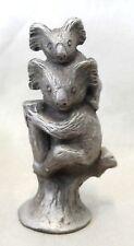 Pewter Koala Mother & Baby Statuette Figurine Decorative Ornament Home Decor