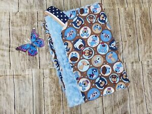 Woof Woof print Cotton Calico print blanket for Babies & toddlers 34 x 44