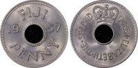 Fiji 1957 Penny 1D PCGS MS64 GEM UNC damage to last slab see last photos