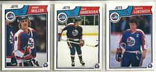 1983-84 O-Pee-Chee Hockey 19-card Winnipeg Jets Team Set Dale Hawerchuk