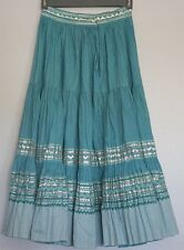 Vintage Skirt Squaw PatioTurquoise with Elaborate Silver Trim Circa 1950s