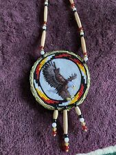 Native American Beaded Eagle Native Beaded Medallion Pow Wow Regalia