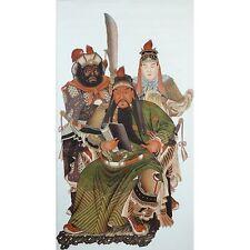 Rollbild chinesische Malerei Die Drei Waffenbrüder Bildrolle Hängerolle China