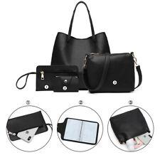 4pcs/set Women Handbag Messenger Leather Shoulder Bag Tote Purse Satchel