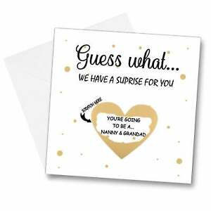 Scratch Off Reveal Card Lockdown Quarantine pregnancy announcement baby reveal